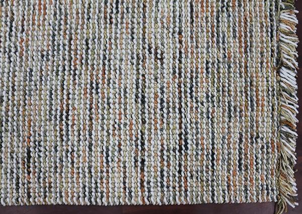 Orange, Yellow, Grey, Blue, Ivory (VIV-03) Rustic / Farmhouse Area Rug