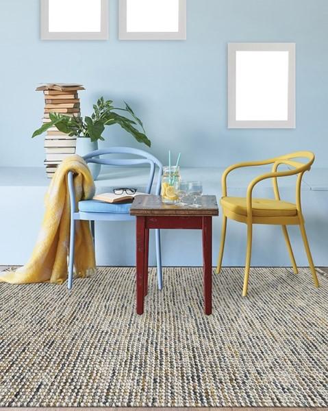Gold, Yellow, Grey, Ivory (VIV-04) Rustic / Farmhouse Area Rug