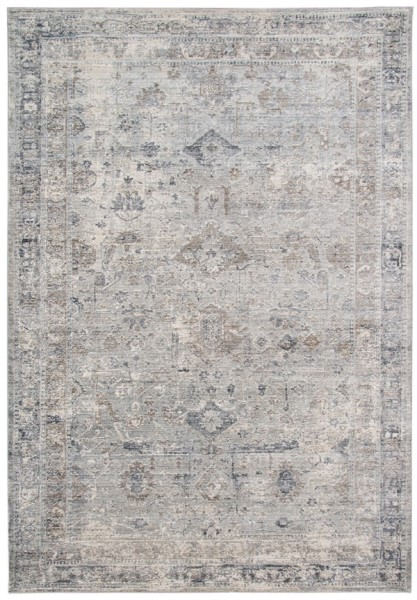 Brown, Grey, Cream Vintage / Overdyed Area Rug