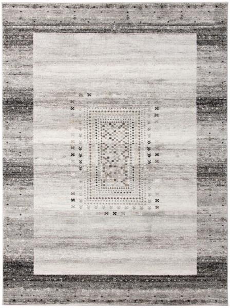 Grey, Cream, Tan Contemporary / Modern Area Rug