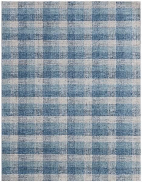 Blue, Cream (TRA-11) Country Area Rug