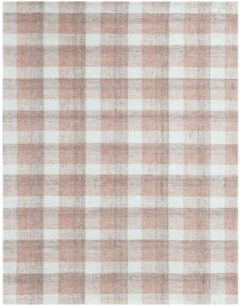 Pink, Cream, Grey (TRA-14) Rustic / Farmhouse Area Rug