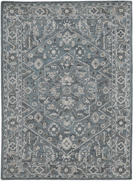 Blue, Beige, Cream Traditional / Oriental Area Rug
