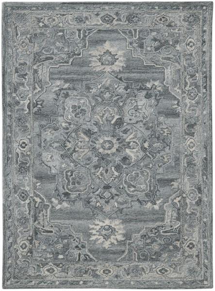 Grey, Silver, Cream Traditional / Oriental Area Rug