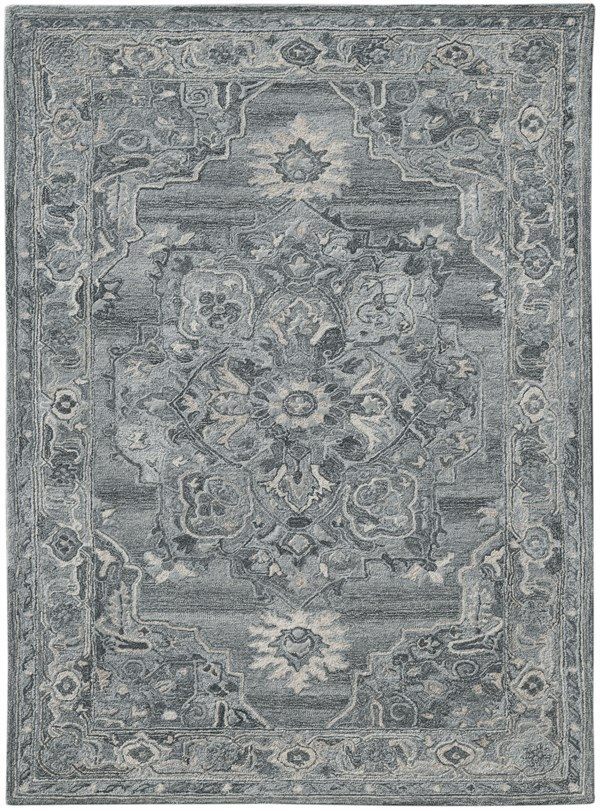 Grey, Silver, Cream Transitional Area Rug