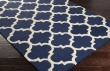 Product Image of Navy, White (AWAH-2032) Moroccan Area Rug