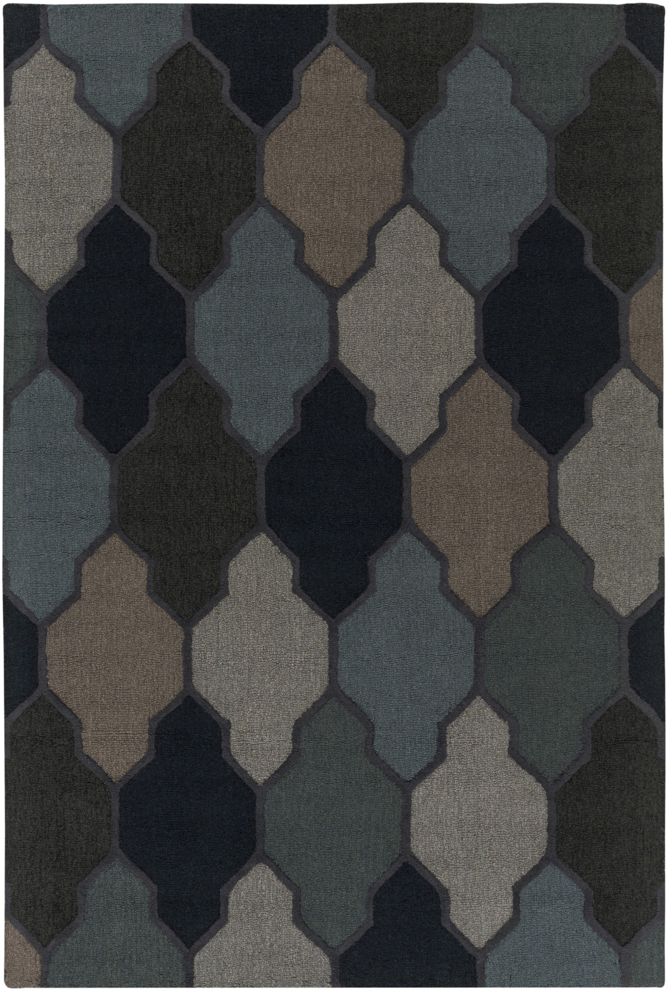 Product Image of Contemporary / Modern Blue (AWAH-2042) Area Rug