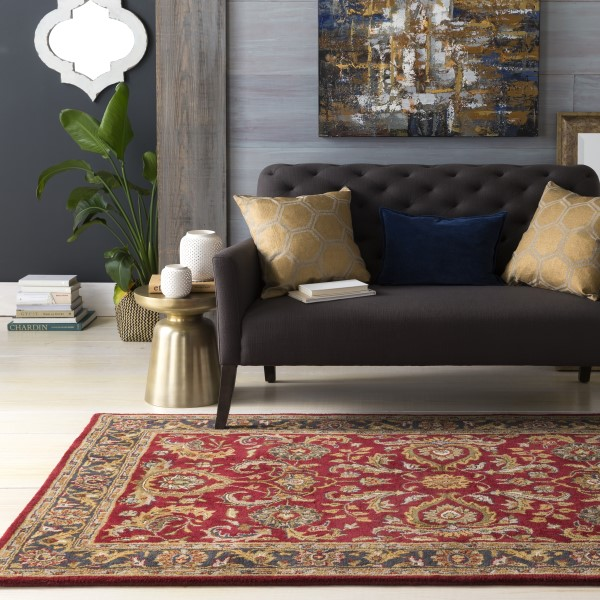 Red, Charcoal (AWHY-2062) Traditional / Oriental Area Rug