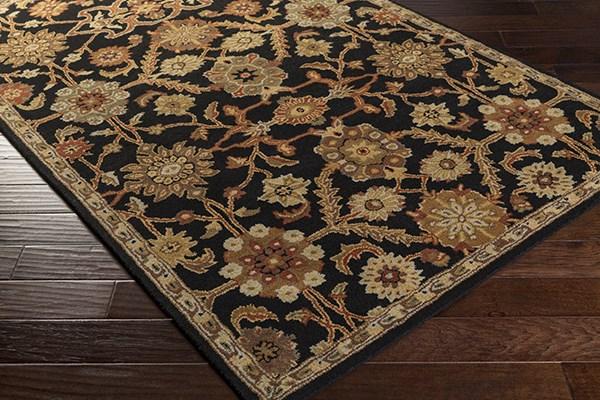 Black, Terracotta, Tan, (AWMD-2073) Traditional / Oriental Area Rug