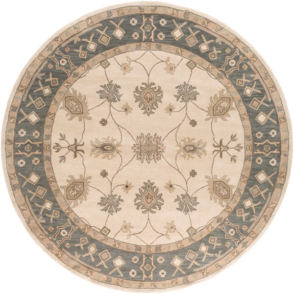 Grey, Ivory (AWHR-2050) Traditional / Oriental Area Rug