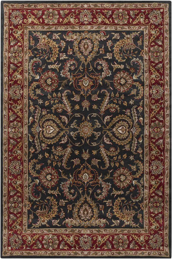 Charcoal, Red (AWHY-2061) Traditional / Oriental Area Rug