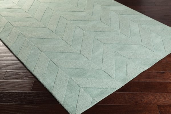 Teal (AWHP-4027) Textured Solid Area Rug