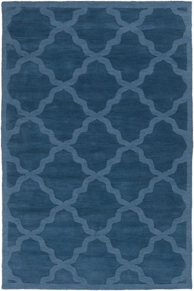 Blue (AWHP-4018) Textured Solid Area Rug