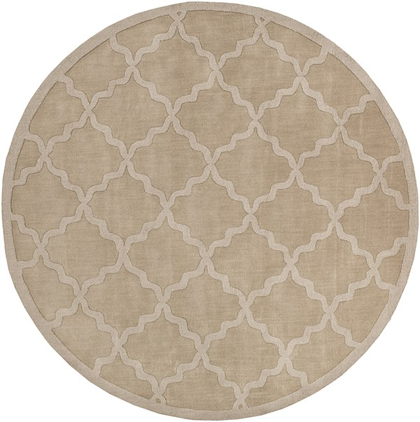 Tan (AWHP-4020) Textured Solid Area Rug
