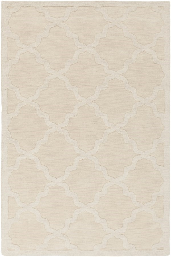 Beige (AWHP-4021) Textured Solid Area Rug