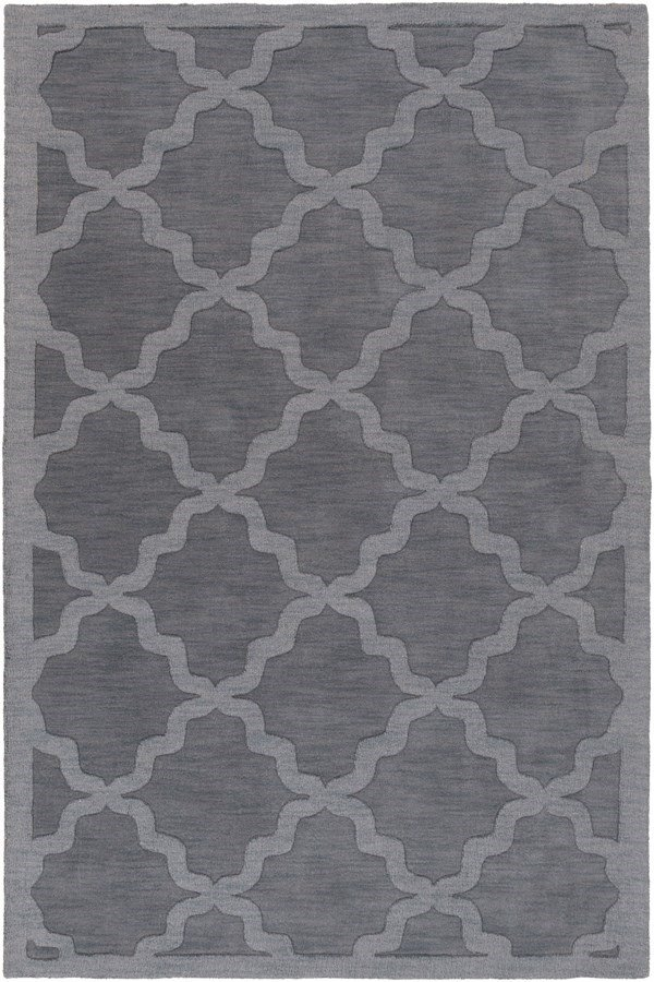 Charcoal (AWHP-4023) Textured Solid Area Rug