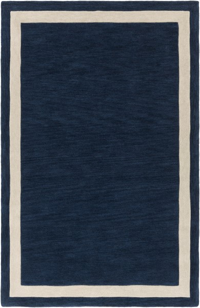 Navy, Ivory (AWHL-1003) Contemporary / Modern Area Rug
