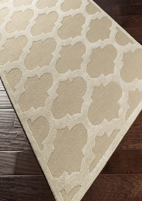 Beige, Ivory (AWRS-2119) Moroccan Area Rug