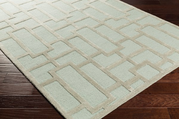 Mint, Beige (AWRS-2139) Transitional Area Rug