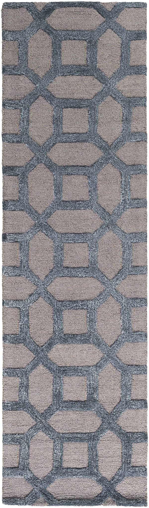 Light Grey, Blue (AWRS-2128) Moroccan Area Rug