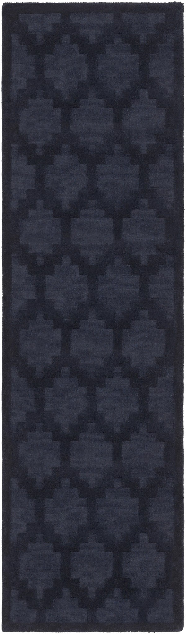 Navy (AWMP-4003) Textured Solid Area Rug