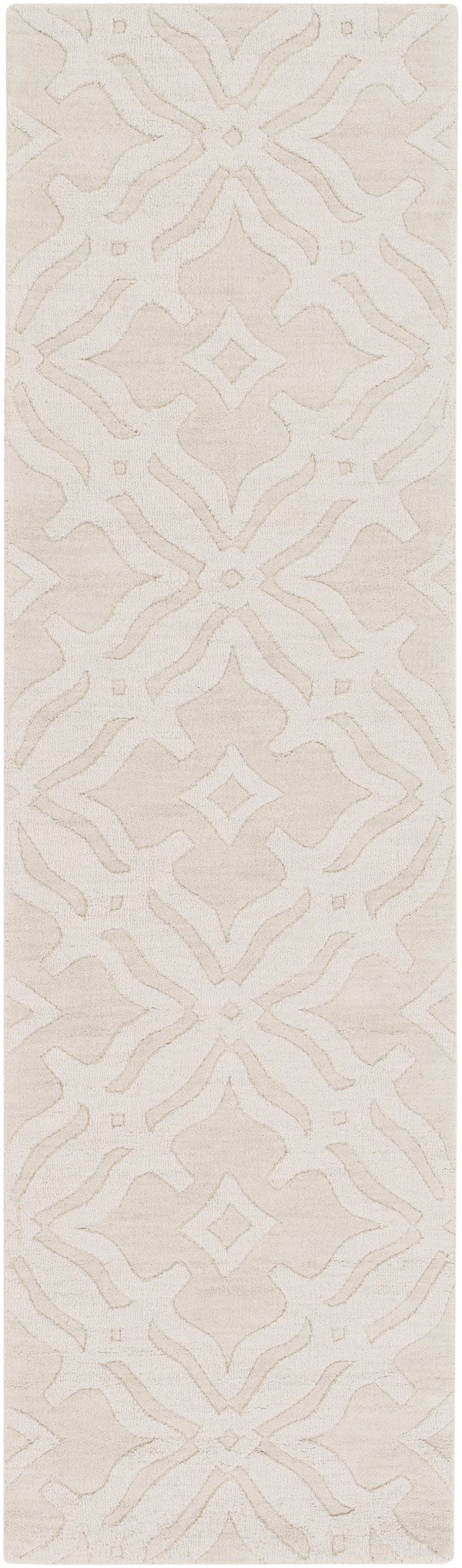Ivory, (AWMP-4017) Textured Solid Area Rug