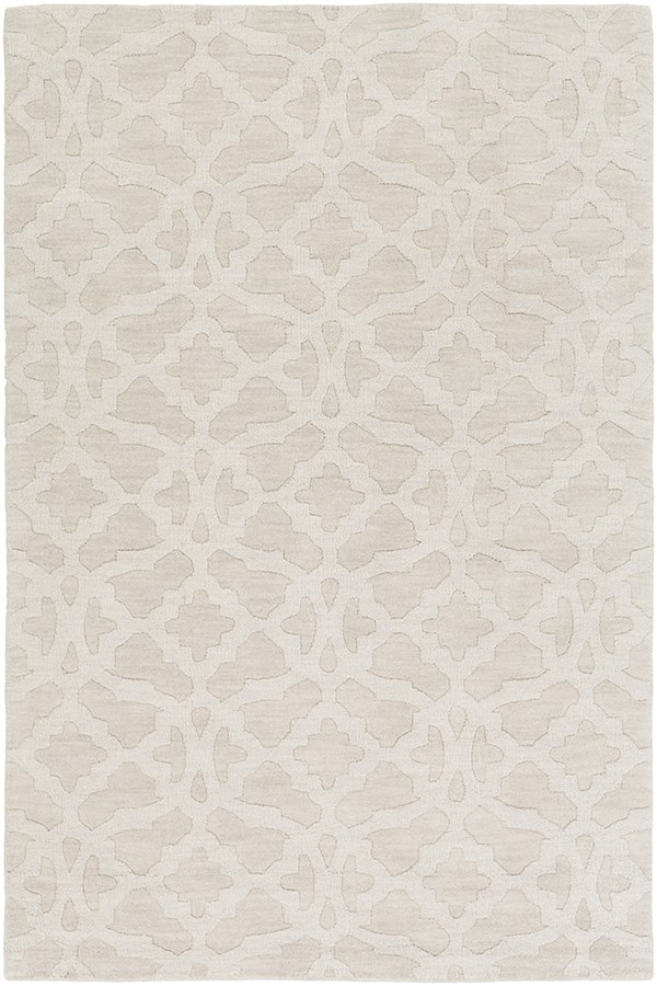 Ivory (AWMP-4025) Textured Solid Area Rug