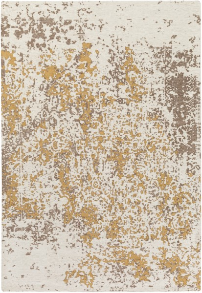 Beige, Gold (EGT-3077) Abstract Area Rug