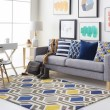 Product Image of Blue, Gray (HDA-2385) Contemporary / Modern Area Rug