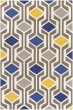 Product Image of Contemporary / Modern Blue, Gray (HDA-2385) Area Rug
