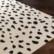 Product Image of Beige, Black (STLA-2443) Animals / Animal Skins Area Rug
