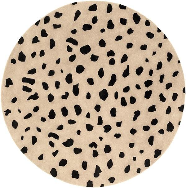 Beige, Black (STLA-2443) Animals / Animal Skins Area Rug
