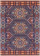Product Image of Poppy Red, Navy Blue, Peach (SAJ-1060) Outdoor / Indoor Area Rug