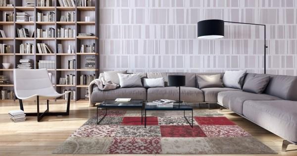 Antwerp Red (8985) Contemporary / Modern Area Rug