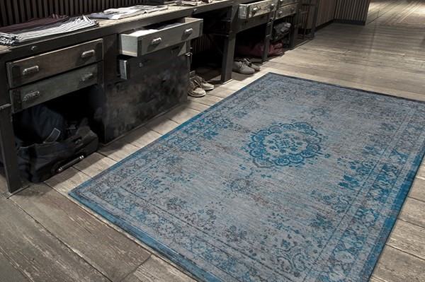Grey Turquoise (8255) Traditional / Oriental Area Rug