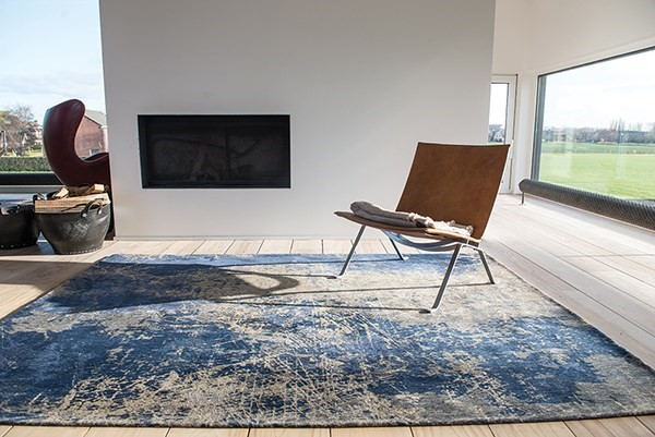 Abyss Blue (8629) Abstract Area Rug