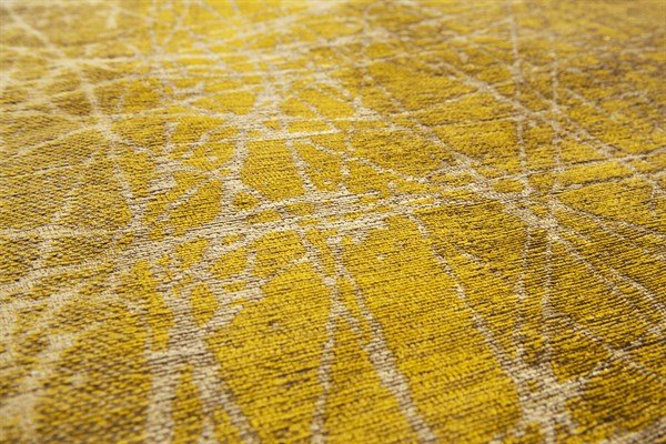 Brown, Gold, Yellow (8879) Abstract Area Rug