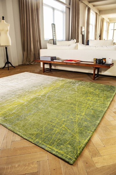 Central Park Green (8882) Abstract Area Rug