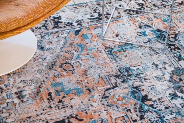 Seray Orange (8705) Vintage / Overdyed Area Rug