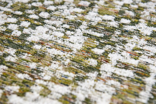 Green, Brown, White (8893) Natural Fiber Area Rug