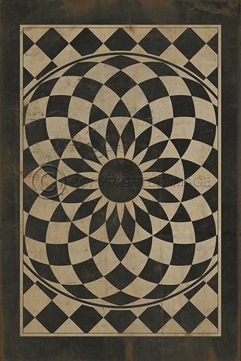 Vintage Vinyl Floor Cloths We are All Mad Here arearugs