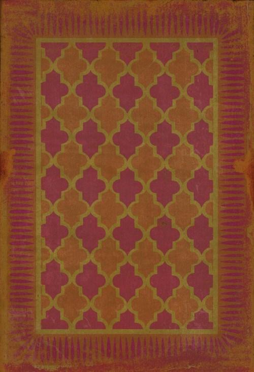 Pink, Orange Bordered Area Rug