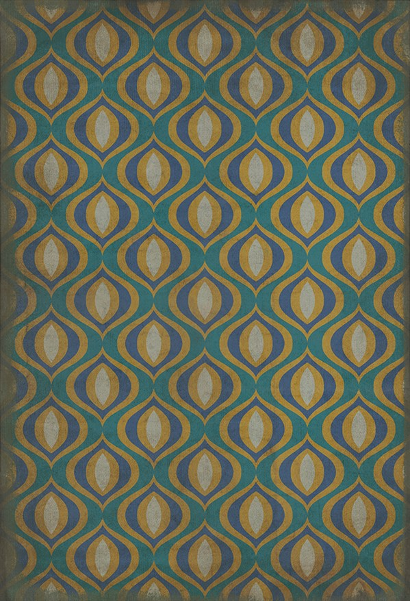 Teal, Gold Moroccan Area Rug