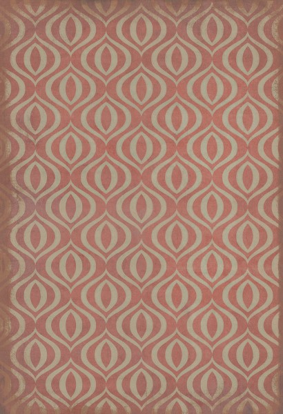 Red, Ivory Contemporary / Modern Area Rug