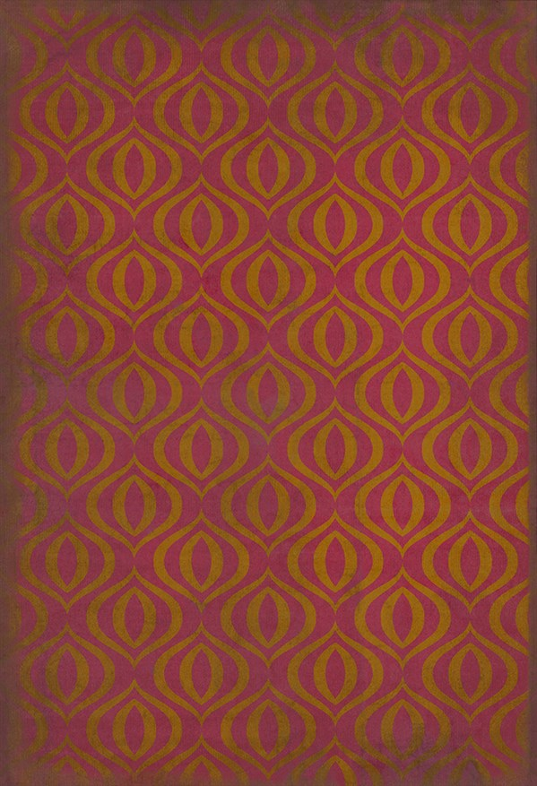 Pink, Gold Moroccan Area Rug