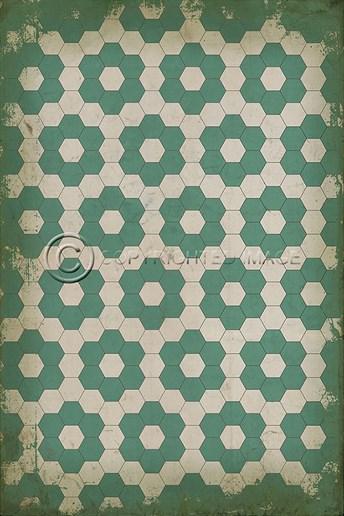 Vintage Vinyl Floor Cloths Water Lilies arearugs