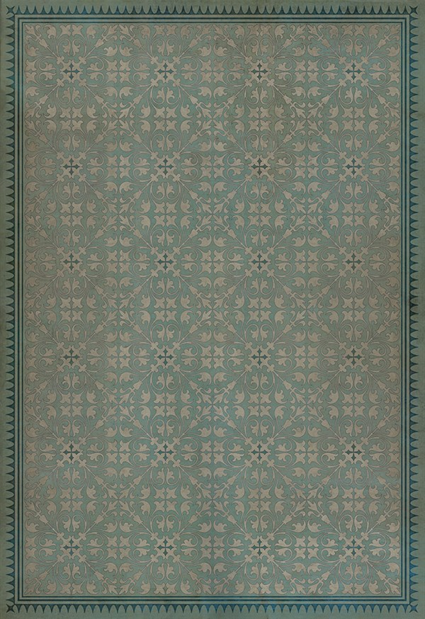 Teal, Ivory Transitional Area Rug
