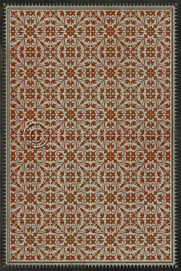 Spicher And Company Vintage Vinyl Floor Cloths Painting