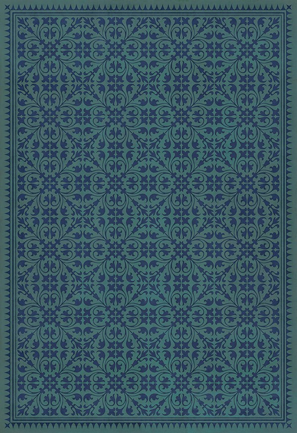 Teal, Royal Blue Transitional Area Rug