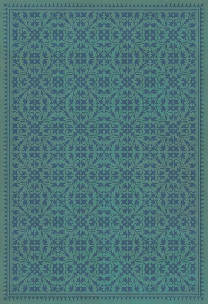 Teal, Royal Blue Transitional Area Rug